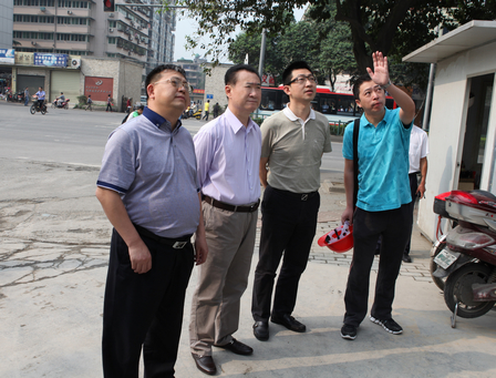 Chairman Inspects Chengdu Jinniu Wanda Project