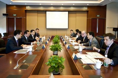 .P. Morgan Asia Pacific CEO Visits Wanda
