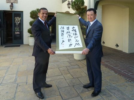 王健林董事長會晤洛杉磯市長