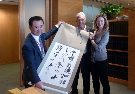 王健林董事長到訪奧斯卡電影學院
