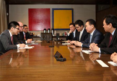 王健林董事長會見JP摩根總裁兼CEO杰米·戴蒙
