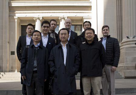 王健林董事長參觀美國大都會博物館