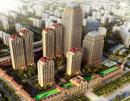 天津万达中心住宅项目获得2 星级绿建设计标识