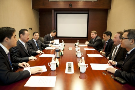 王健林董事長會見IMAX中國首席執行官一行