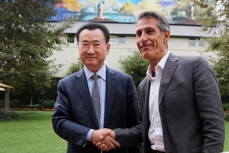 王健林董事長會晤索尼電影制片公司董事長