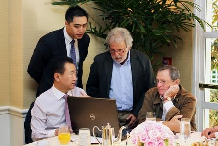 王健林董事長會晤奧斯卡組委會前主席