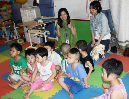 Disabled children enjoy love and care