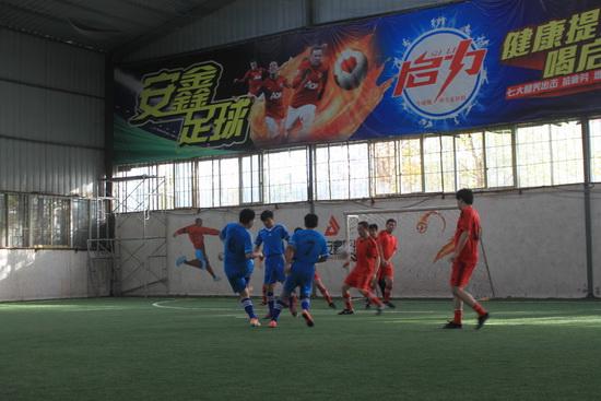 鄭州區域萬達商管組織足球友誼賽 交流球技增進友誼