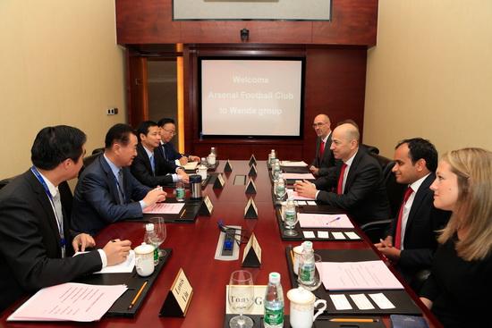 王健林董事长会见阿森纳足球俱乐部CEO