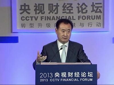 王健林做客央视财经论坛讲万达电商