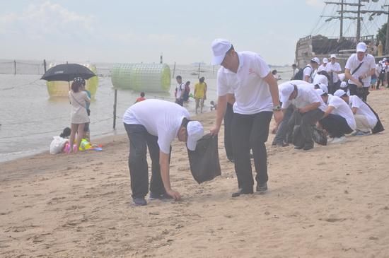 让城市更洁净 广州万达项目举办南沙义工活动