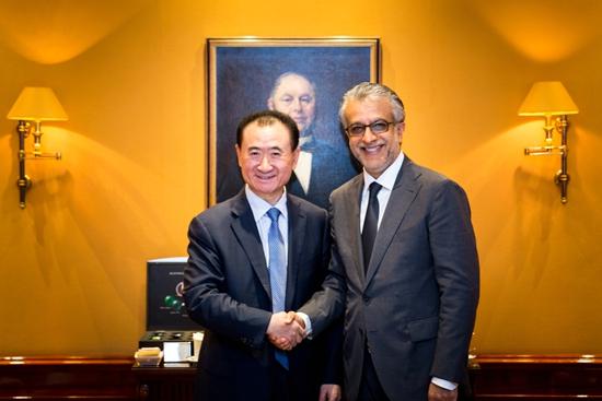 王健林董事长会见亚洲足联主席萨尔曼