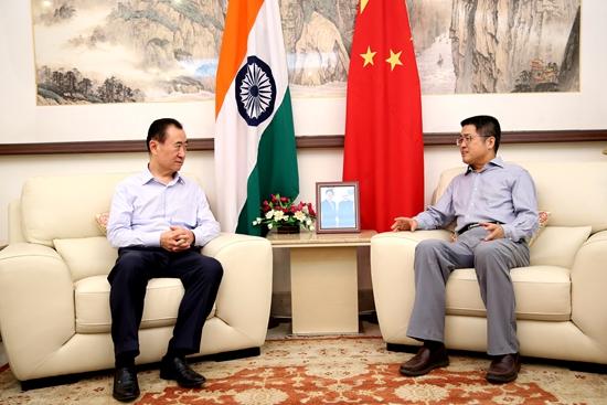 王健林董事长拜会中国驻印度大使乐玉成