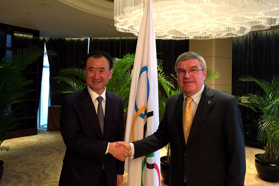 Chairman Wang Jianlin Meets with Thomas Bach