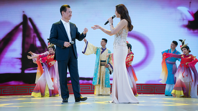 Wanda Chairman Wang Jianlin performs traditional Chinese opera Huang Mei Xi