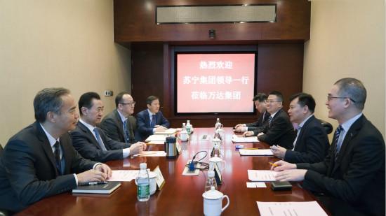 王健林董事长会见苏宁集团领导一行