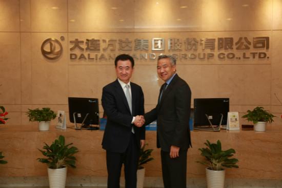 王健林董事长会见华纳兄弟董事长兼首席执行官