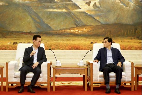 云南省委书记省长会见王健林董事长