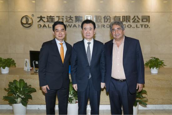 王健林董事长会见亚美迪集团总裁华西穆·亚美迪