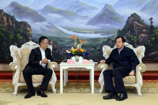 黑龙江省省长陆昊会见文化集团总裁张霖