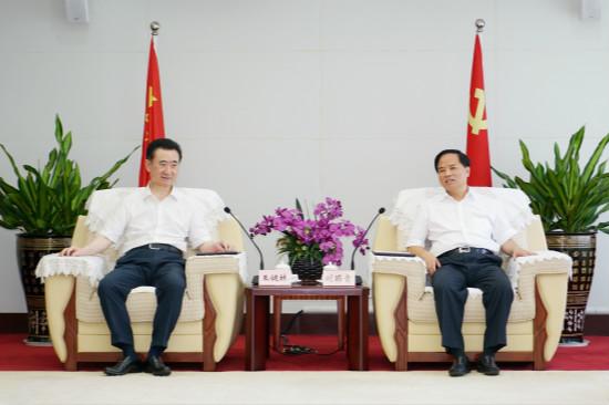 海南省委书记刘赐贵会见王健林董事长