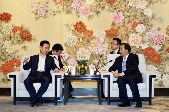 黑龙江省省长陆昊会见王健林董事长