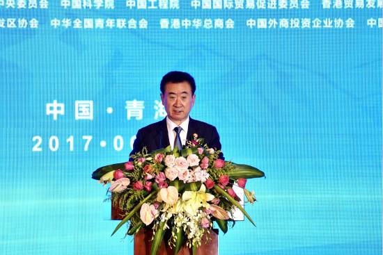 王健林董事长出席青洽会开幕式并发表演讲
