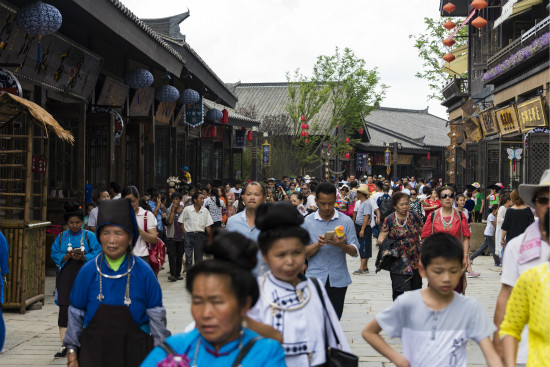 丹寨明仕国际娱乐旅游小镇取得开门红 开业首月游客近80万人次