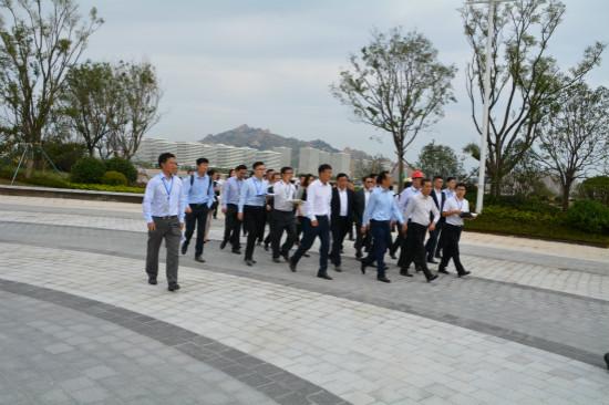 文化集团总裁张霖检察青岛万达东方影都项目