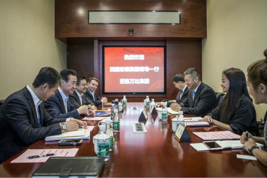 王健林董事长会见西藏宏绩集团董事长