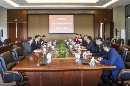 王健林董事长会见上海市崇明区委书记一行