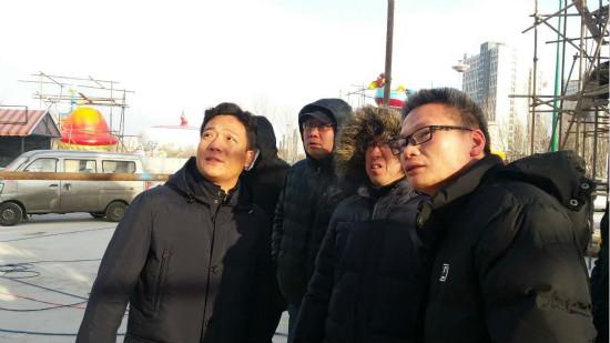 文旅院对哈尔滨万达乐冰灯大世界进行现场检查