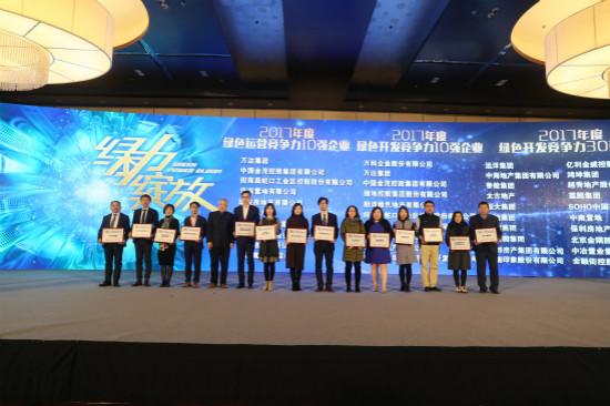 万达获中国绿色建筑产业链峰会三项大奖