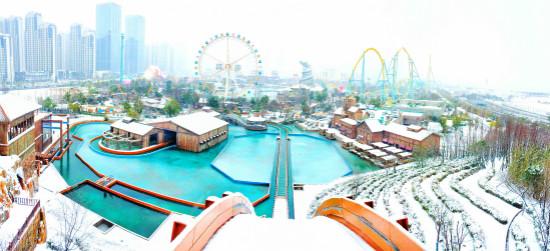 合肥万达乐园雪景获游客盛赞