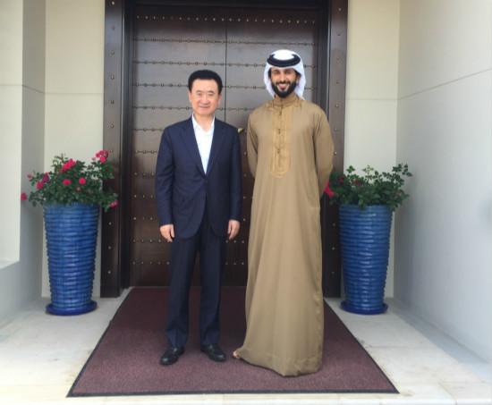 王健林董事长出访巴林和迪拜