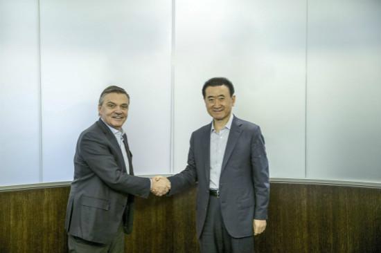 王健林董事长会见国际冰球联合会主席法赛尔