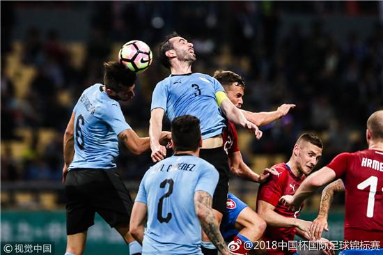 """2018""""中国杯""""第二场比赛举行 乌拉圭2:0战胜捷克"""