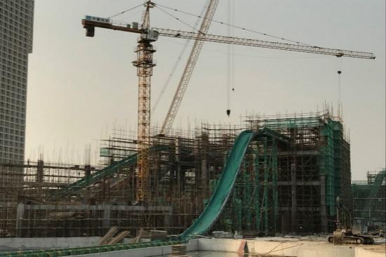 """广州万达城""""怒海狂涛""""设备主体结构安装完成"""