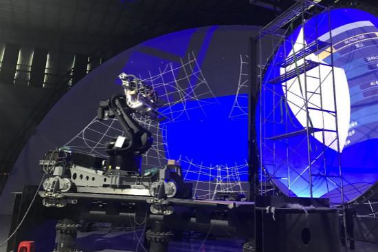 广州万达城多维影院全比例实体模型主体搭建完成