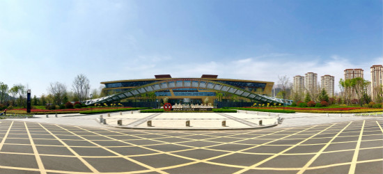 青岛东方影都影视产业园制作区景观工程完工
