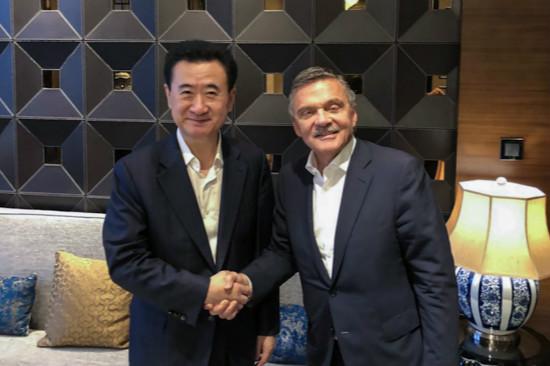 王健林董事长会见国际冰球联合会主席
