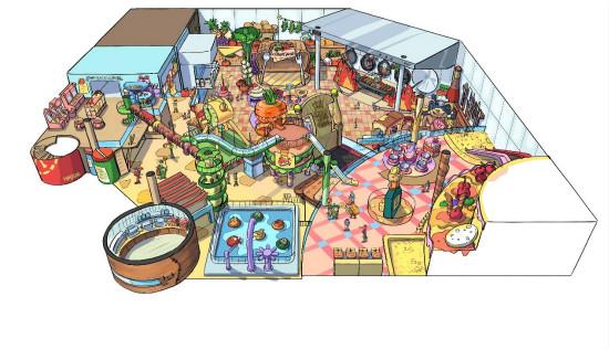 重庆万达乐园麻辣时光区室内家庭娱乐中心概念设计完成