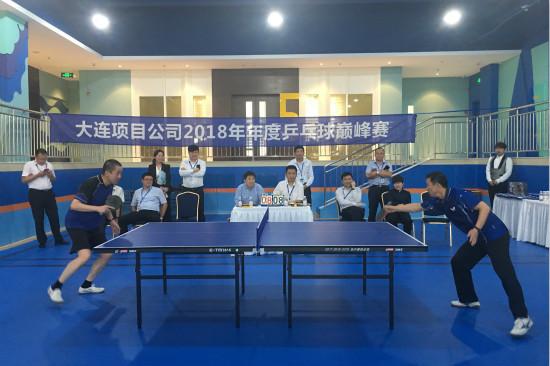 大连项目举办2018年乒乓球巅峰赛
