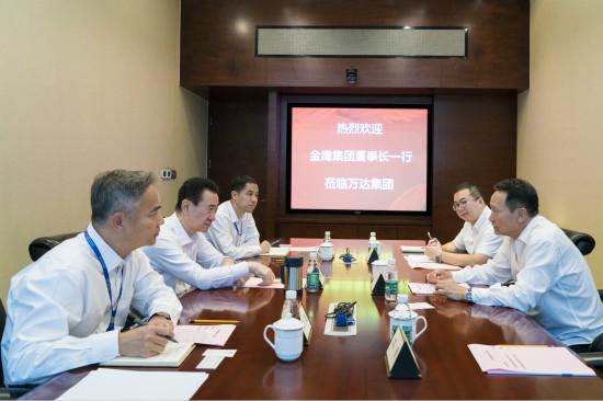 王健林董事长会见金鹰集团董事长王恒