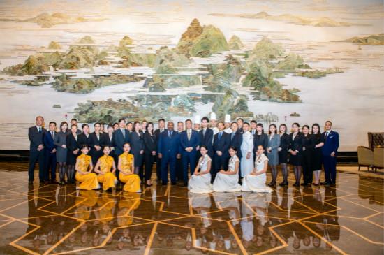 武汉万达瑞华酒店接待加蓬总统及其代表团