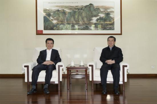 西安市委书记王永康会见王健林董事长