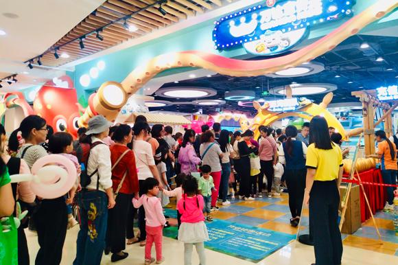 万达宝贝王深圳首家海底小纵队主题乐园加盟店开业