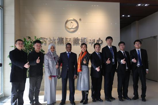 苏丹驻华大使艾哈迈德·沙维尔访问万达廊坊数据中心