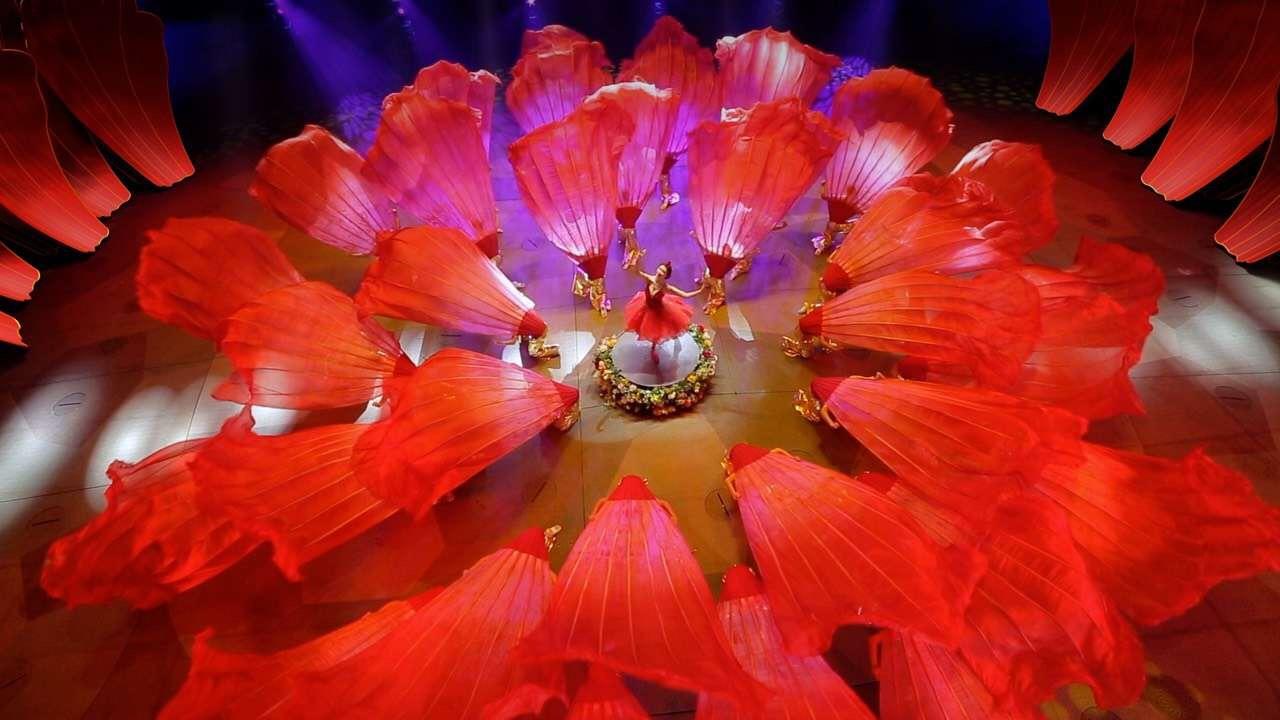 万达汉秀剧场绽放央视春晚 成猪年春节网红