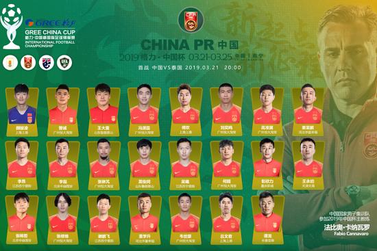 """中国队确定2019""""格力·中国杯""""参赛阵容"""